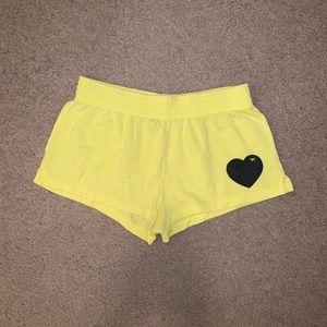 Lounge Yellow Shorts